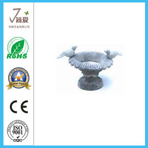 Polyresin Bird Bath Feeder for Garden Decoration