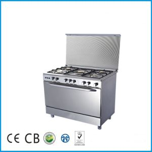 Good Quality 5 Gas Burners Gas Oven with Cooker pictures & photos