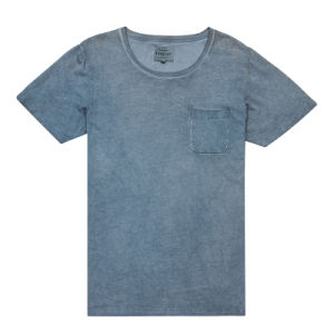 High Quality Men Plain T-Shirt with Washed Effect (TS001W) pictures & photos