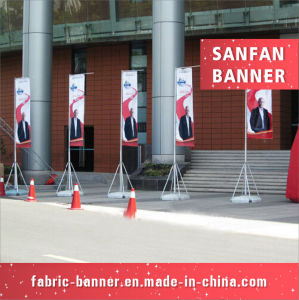 Gaint Advertising Banner Flag with Water Injection Flagpole