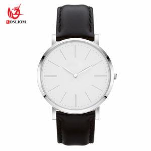 Ultra Thin Simple White Men Women Fashion Casual Waterproof Lovers Quartz Watches #V583