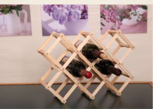 Solid Wood Folding Wine Rack Creative 10 Bottle Wine Rack pictures & photos