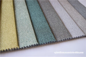 China Low Price 100 Polyester Woven Sofa Cloth Fabric With Linen