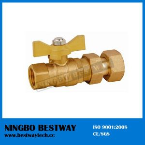Water Meter Compression Forged Brass Ball Valve pictures & photos