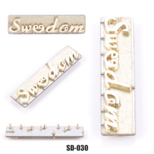 Custom Logo Metal Accessories, Single-Handed Letter Logo