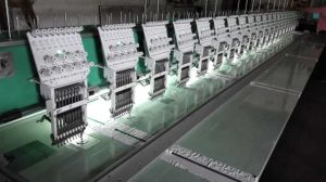 Multi Heads Flat Embroidery Machine with Nine Needles