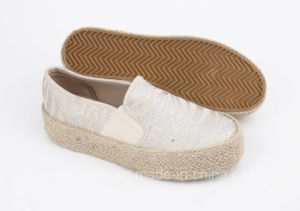 Women Shoes Canvas Sneaker with Hemp Upper (SNC-280017) pictures & photos