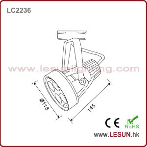 Factory Price 35W LED COB Light Track for Fashion Shop LC2236 pictures & photos