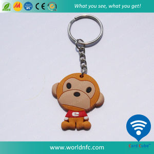 Tk4100 Smart Keychain RFID Silicone Keyfob with Key Tag pictures & photos