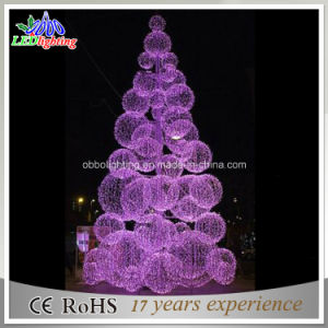 Christmas Ball Tree With Led Lights