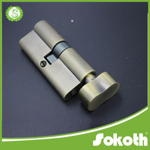 All Solid Brass Hot Sell Double Open Cylinder Lock (SKT-C030) pictures & photos