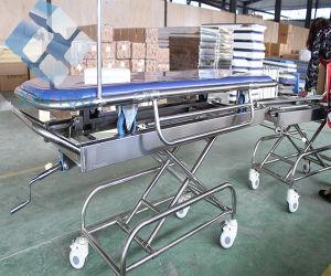 Stainless Steel Transfer Easy Clean Hospital Crash Cart Medical Trolley pictures & photos