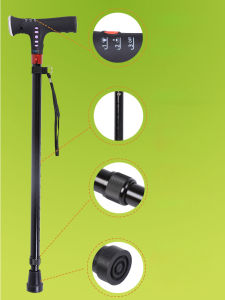 76e2ec5b5d51 Adjustable Telescopic Smart MP3 Music Walking Stick with LED Torch Old Man  Cane
