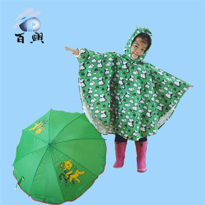 Cute Printed Waterproof Poncho for Children pictures & photos