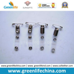 Metal Suspender Clip W/Safety Pin and PVC Clear Tape