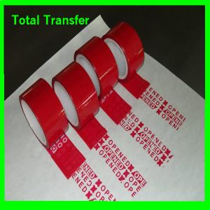 Partial Transfer Tamper Evident Security Void Tape pictures & photos