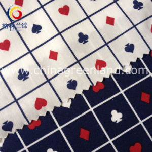 Cotton Poplin Printed Fabric of Playing Card Textile (GLLML155) pictures & photos