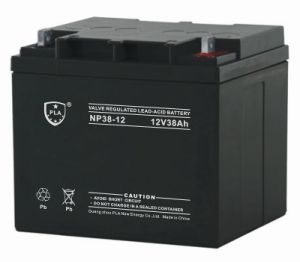 Rechargeable AGM Lead Acid Battery 12V38ah for Solar Power