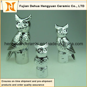 Electroplate Ceramic Owl Figurine Sculpture pictures & photos