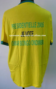 Wholesale Unisex Promotional Yellow T Shirt with V Neck pictures & photos