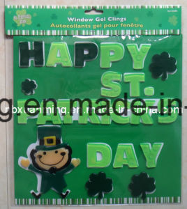 St. Patrick′s Day TPR Window Gel Clings Sticker pictures & photos