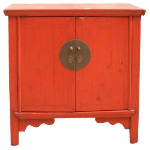Chinese Antique Furniture   Antique Red Cabinet (H08C0002)