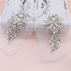 Wholesale Sew on Rhinestone Applique Patches Bling Bling Flower Crystal Applique