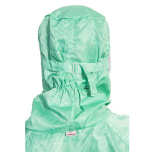 Antistatic Jumpsuit with Face Mask and Cap for 100-1000 Class Cleanroom Use pictures & photos