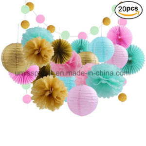Umiss Tissue Paper Flowers Lanterns For Baby Shower Birthday Decoration Party Supplier