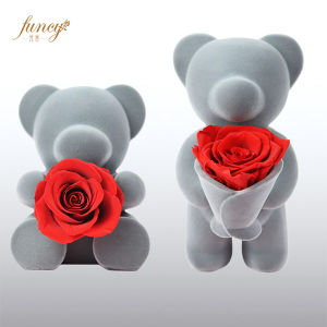 China Beautiful Love Gift Teddy Rose Bear Grey Gift Love China