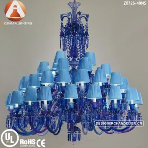 Baccarat Blue Crystal Chandelier For Hotel Project Decoration