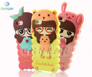 2777c6aa362a55 China 2014 Popular 3D Cartoon Cute Silicone Girl Mobile Case Cover for  iPhone 5 5s 3 Style for Choosing - China 3d Cell Phone Case for Iphone 5s,  ...