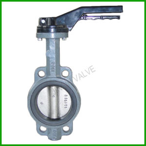 Lever Hand Rubber Seat Wafer Butterfly Valve