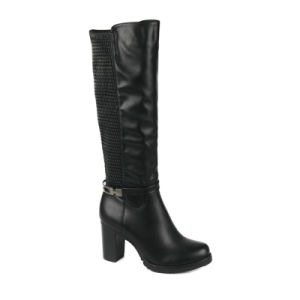 Fashion PU Long Boots High Heels for Women and Lady pictures & photos