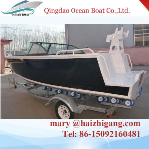 Factory Supply Ce Approved 17FT Cuddy Cabin Aluminium Fishing Boat