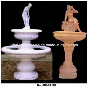 Hand Carved Stone Fountain, Outdoor Garden Water Fountain (YKOF-97)