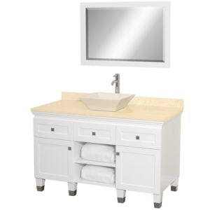 "Premiere 48"" Wood Bathroom Vanity Set - White"