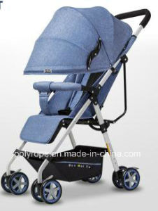 a Baby Carriage Can Sit and Lie on a Baby Stroller with a Portable Folding Baby Carriage