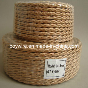 Three Conductor Twisted Wire, Braided Wire, Textile Cable (UL VDE SAA) pictures & photos