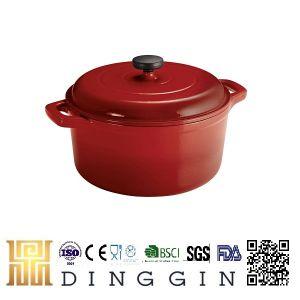 Enamel Coated Cast Iron Cookware Pot Red Color pictures & photos
