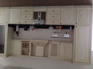 Red Oak Solid Wood Kitchen Furnitures