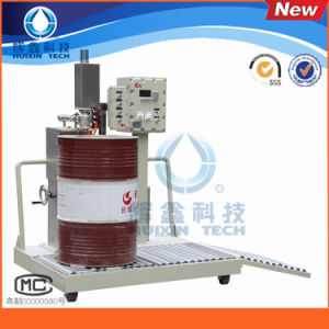 Semi- Automatic 200L Liquid Filling Machine for Solvent or Other Chemical Liquid