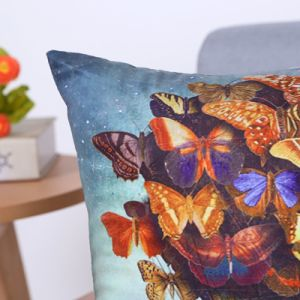 Digital Print Decorative Cushion/Pillow with Butterfly Pattern (MX-97) pictures & photos