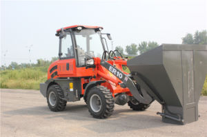 Qingdao Everun 1 Ton Small Wheel Loader with Mixer Bucket pictures & photos