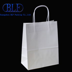 Customized Colorful White Kraft Paper Bag for Garment (BLF-PB101) pictures & photos