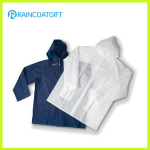 Adult Waterproof Lightweight Clear PVC/EVA Raincoat Rvc-036 pictures & photos