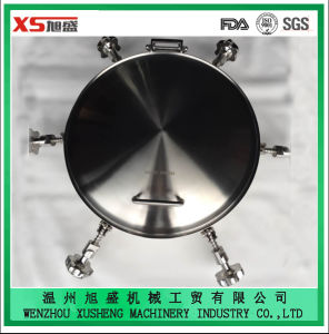 High Quality Dn400 Stainless Steel Ss316 Hygienic Round Pressure Manway pictures & photos