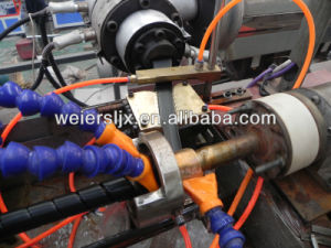 Italy Running Hydraulic Hose Protective Sheath PE Spiral Wrapping Band Extrusion Line pictures & photos