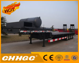 Heavy Duty Low Bed Semi Trailer for Transporting Construction Machinery for Sale