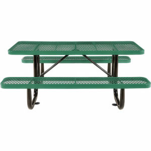 "72"" Rectangular Steel Picnic Table Top & Bench Top"